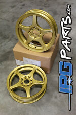 Gold Lenso XPD Drag Race Wheels Rims 15x3.5 4x100 Civic Integra CRX Skinnies