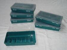 6 x Sortierkasten Sortierkiste Sortimentskasten Sortierbox  250x140x54mm Grün