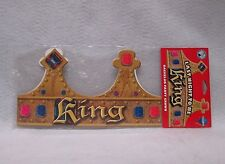 Last Night To Be King Crown Adjustable Multicolor Bachelor Party Guys Night Out