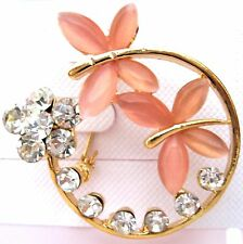 Women/Girls Crystal Rhinestone Flower Brooch new