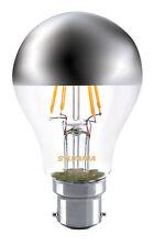 Sylvania Crown Silver A60 mirror light bulb 4W B22 BC LED 450lm 2700k non dim