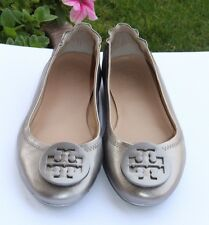Tory Burch Minnie Packable Leather Travel Ballet Flats Size 6