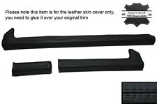 BLACK STITCH 3X DASH DASHBOARD TRIM LEATHER SKIN COVERS FITS ALFA ROMEO GTV GTV6