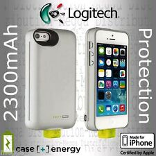 Logitech iPhone SE / 5/5s 2300mAh External Backup Battery Charger Power Case