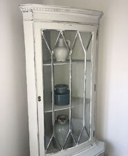 Antique,solid wood,corner unit,cupboard,storage,wooden,white,grey,lounge,dining