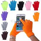 Women/Men Knitted Wool Gloves Warm Finger Winter for Phone Tablet Touch Screen