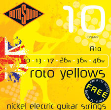 Rotosound R10 Roto Yellows Elec Guitar strings 10-46w regular gauge