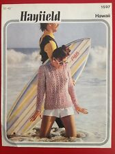 HAYFIELD Hawaii ~ Knitting Pattern ~ Women's Sweater ~ 32-40inches(81-102cm