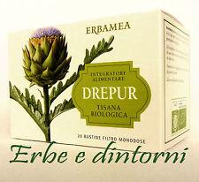 DREPUR Tisana biologica 20 bustine Depurazione, fegato,colesterolo, metabolismo