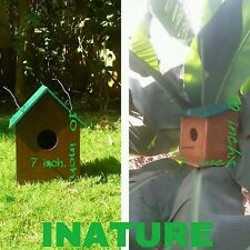 Pair of 2 Beautifully Handcrafted wooden Sparrow House, Bird Nest, Nest box.