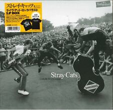 STRAY CATS-LIVE AT ROCKPALAST LP BOX & T-SHIRT-JAPAN 3 LP Ltd/Ed AE50