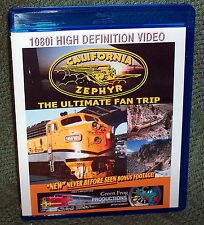 "20296 BLU-RAY HD TRAIN VIDEO ""THE CALIFORNIA ZEPHYR"" 1960's"