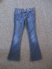 Girl's 7 For All Mankind KAYLIE Dark Wash Flare Leg Stretch Thin Jeans 12 (27 L)