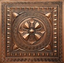 3D embossed Faux tin ceiling tile TD01 Aged Copper (glue on or drop in)