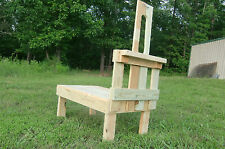 "Goatstand.com Small Pygmy Goat Stand 23"" x 36"" Treated Wood + Durable Stanchion"