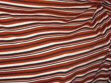 tissu maille jersey rayé blanc chocolat rouille en 160 cm de large au metre