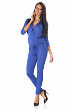 Womens Sexy Jumpsuit With Pockets Evening Wrap Playsuit Catsuit Size 8-12 1076