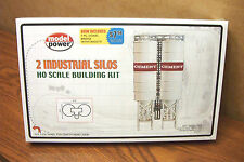 MODEL POWER 2 INDUSTRIAL SILOS HO SCALE BUILDING KIT