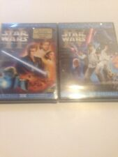 Star Wars New Hope Limited Edition DVD NEW Attack Of The Clones Lot Of 2 Disney