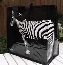 Beach or shopping bag, very durable, very light, very attractive, Zebra-black