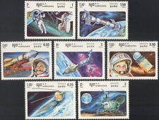 Kampuchea 1985 Gagarin/Tereshkova/Space/Satellites/Astronauts 7v set (b7997)