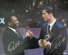 PELE & CRISTIANO RONALDO DUAL SIGNED 16X20 PHOTO  PSA/DNA ITP RARE