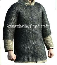 MEDIEVAL ARMOUR CHAINMAIL HAUBERGEON SHIRT MEDIUM 10MM FLAT RIVETED WITH WASHER