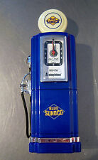 GAS PUMP CLOCK RADIO 50'S AMERICAN RETRO STYLE PETROL PUMP BY STEEPLETONE BLUE