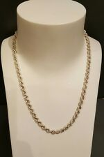 solid sterling silver rope chain necklace 925 5mm thick not scrap