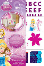 DISNEY PRINCESSES wall stickers over 140 decals mini roomscapes decor letters