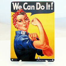 WE CAN DO IT ROSIE THE RIVETER WW2 VINTAGE POSTER PRINT METAL SIGN PROPAGANDA