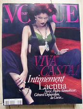 Magazine VOGUE Paris 903 décembre 2009 2010 Laetita Casta cover french fashion