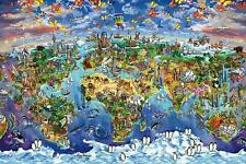 Maria Rabinky : World Wonders Map - Maxi Poster 91.5cm x 61cm (new & sealed)
