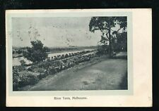 Australia MELBOURNE River Yarra Used 1905 PPC postmark ink to front