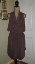 RACHEL ROY Aubergine Tunic Drawstring Cowl Neck Sleeveless Dress ~ SZ XL 14 / 16