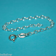 """6 pieces 925 Sterling Silver 4"""" CHAIN EXTENDERS with Spring Ring Clasps"""
