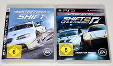 2 PS3 SPIELE BUNDLE - NEED FOR SPEED SHIFT 1 & SHIFT 2 UNLEASHED LIMITED EDITION