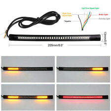 Flexible Motorcycle Light Strip 8 Soft 48 LED Tail Brake Stop Turn Bright Lamp