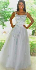 Tiffany white ball gown Pageant Prom gown size 2 Cinderella gown Halloween