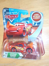 Disney Pixar Cars Lenticular eyes #127 LIGHTNING MCQUEEN WITH CONE Skyline