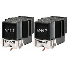 2x Shure M44-7 Phono Turntable Cartridges M447 DJ Battle Needle Stylus M-447