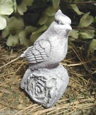 latex only small bird / cardinal on log mold plaster concrete casting mold