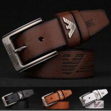 Nuevo Para hombres Cuero Cinturones Hebilla Cinturón Antiguo Georgio Armani