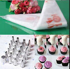 100PCS Disposable Piping Bag Icing Nozzle Fondant Cake Decorating Pastry Tool PS