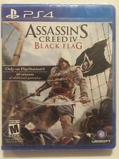 Assassin's Creed IV Black Flag  (Sony PlayStation 4, 2013) Sealed Fast Ship