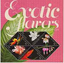 St Kitts - Exotic Flowers of the Caribbean, 2011 - Sc 817 Sheetlet of 4 MNH