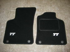 Audi TT ROADSTER Mk1 (1999-2006) Car Mats in Black with TT Logos (Silver)