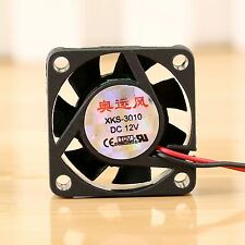12V DC 2 Pin 30x30x10mm PC Video Card Cooling 7 Blades Cooler Fan for PC CPU NEW