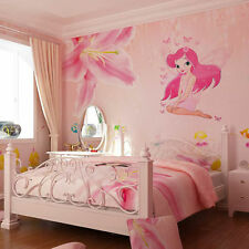 Fairy Pink Princess Butterly Decals Vinyl Art Mural Wall Sticker Girl Room Decor