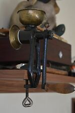 Vintage cast iron coffee grinder mill for table mount PORKERT